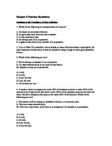 Chapter 5 Practice Questions