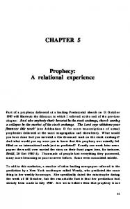 CHAPTER 5. Prophecy: A relational experience