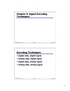 Chapter 5: Signal Encoding Techniques