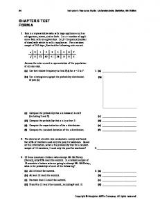 CHAPTER 5 TEST FORM A