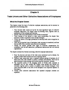Chapter 5. Trade Unions and Other Collective Associations of Employees