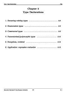 Chapter 5 Type Declarations