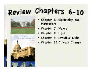 Chapter 6. Electricity and Magnetism Chapter 7. Waves Chapter 8. Light Chapter 9. Invisible Light Chapter 10 Climate Change