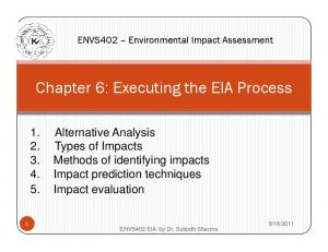 Chapter 6: Executing the EIA Process
