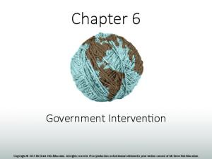 Chapter 6. Government Interven1on