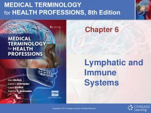 Chapter 6. Lymphatic and Immune Systems