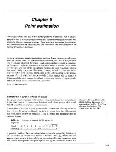 Chapter 6 Point estimation