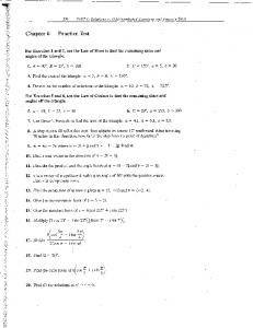 Chapter 6 Practice Test