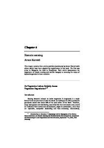 Chapter 6. Remote sensing. Arnon Karnieli. Do Vegetation Indices Reliably Assess Vegetation Degradation? *1. Introduction
