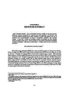 CHAPTER 6 RENEWABLE ENERGY 1