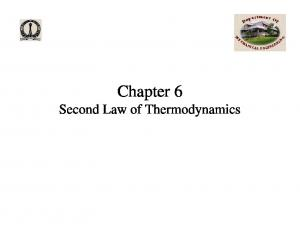 Chapter 6 Second Law of Thermodynamics