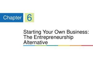 Chapter 6. Starting Your Own Business: The Entrepreneurship Alternative