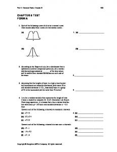 CHAPTER 6 TEST FORM A