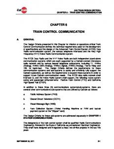 CHAPTER 6 TRAIN CONTROL COMMUNICATION