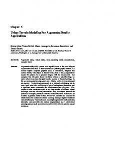 Chapter 6. Urban Terrain Modeling For Augmented Reality Applications