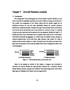 Chapter 7 Aircraft Flotation Analysis