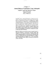 Chapter 7 Animal Behavior Experiments Using Arthropods