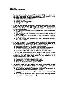 CHAPTER 7 HEMATOLOGIC PROBLEMS
