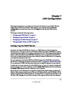 Chapter 7 LAN Configuration