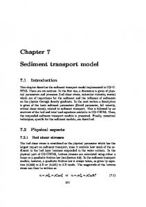Chapter 7. Sediment transport model. 7.1 Introduction. 7.2 Physical aspects Bed shear stresses