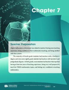 Chapter 7. Teacher Preparation