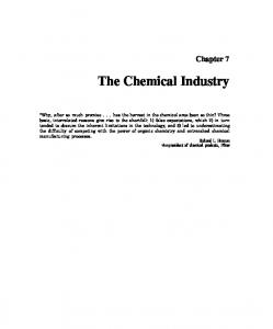 Chapter 7 The Chemical Industry