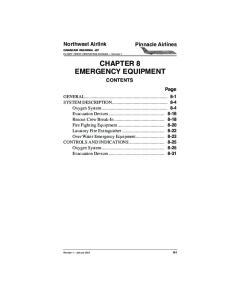 CHAPTER 8 EMERGENCY EQUIPMENT