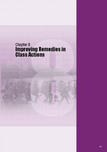 Chapter 8. Improving Remedies in Class Actions