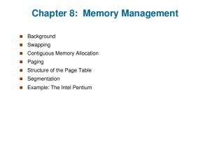 Chapter 8: Memory Management