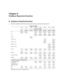 Chapter 8 Nonlinear Regression Functions