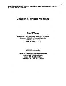 Chapter 8. Process Modeling