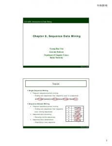 Chapter 8, Sequence Data Mining