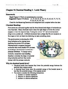 Chapter 9: Chemical Bonding I: Lewis Theory