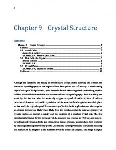 Chapter 9 Crystal Structure