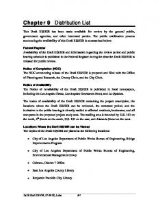 Chapter 9 Distribution List