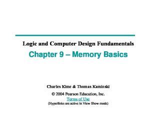 Chapter 9 Memory Basics