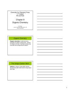 Chapter 9 Organic Chemistry