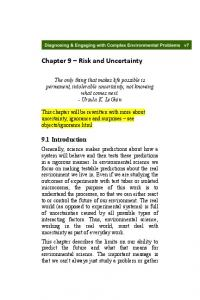 Chapter 9 Risk and Uncertainty