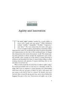 CHAPTER. Agility and Innovation