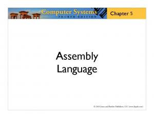 Chapter. Assembly Language