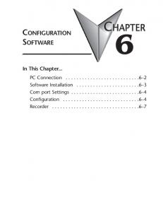 CHAPTER CONFIGURATION SOFTWARE. In This Chapter