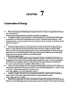 CHAPTER. Conservation of Energy