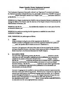 Chapter Executive Director Employment Agreement (for continuing executive directors)