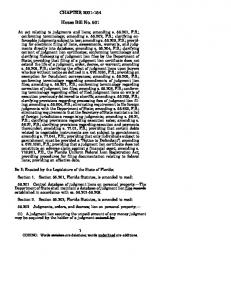 CHAPTER House Bill No. 601
