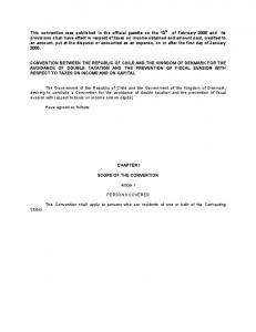 CHAPTER I SCOPE OF THE CONVENTION. Article 1 PERSONS COVERED