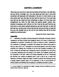 CHAPTER III: LEADERSHIP
