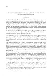 Chapter III SERIOUS BREACHES OF OBLIGATIONS UNDER PEREMPTORY NORMS OF GENERAL INTERNATIONAL LAW