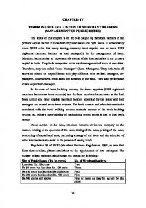 CHAPTER- IV PERFROMANCE EVALUATION OF MERCHANT BANKERS (MANAGEMENT OF PUBLIC ISSUES)