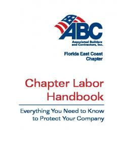 Chapter Labor Handbook. Everything You Need to Know to Protect Your Company