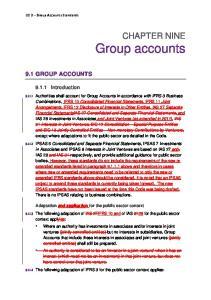 CHAPTER NINE Group accounts
